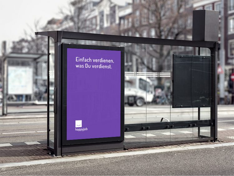 happyjob out of home kampagne, plakat.