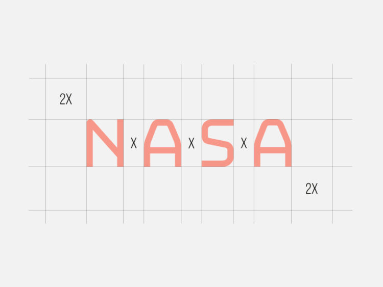 nasa logo rebranding spacing.