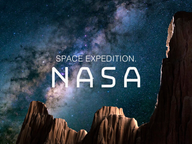 space expedition nasa. grafikdesigner stefan gessert.